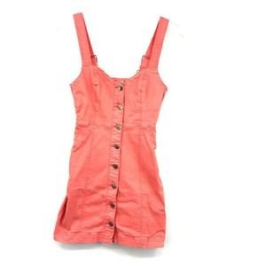 MP|D Dungaree Overall Dress S Button Front Sheath